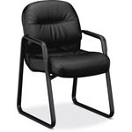 HON Pillow-Soft 2093 Executive Sled Based Guest Chair HON2093SR11T