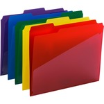 Smead 10540 Assortment Poly File Folders with Slash Pocket SMD10540