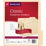 Smead 11537 Manila Fastener File Folders with Reinforced Tab SMD11537