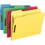 Smead 11975 Assortment Colored Fastener File Folders with Reinforced Tabs SMD11975