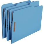 Smead 12040 Blue Colored Fastener File Folders with Reinforced Tabs SMD12040