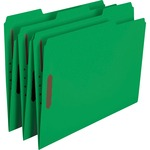 Smead 12140 Green Colored Fastener File Folders with Reinforced Tabs SMD12140