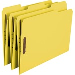 Smead 12940 Yellow Colored Fastener File Folders with Reinforced Tabs SMD12940
