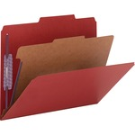 Smead 13731 Bright Red Colored Pressboard Classification Folders with SafeSHIELD Fasteners SMD13731