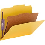Smead 13734 Yellow Colored Pressboard Classification Folders with SafeSHIELD Fasteners SMD13734
