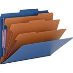 Smead 14096 Dark Blue Colored Pressboard Classification Folders with SafeSHIELD Fasteners SMD14096
