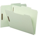 Smead 14980 Gray/Green Pressboard Fastener File Folders with SafeSHIELD Fasteners SMD14980