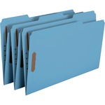 Smead 17040 Blue Colored Fastener File Folders with Reinforced Tabs SMD17040
