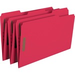 Smead 17740 Red Colored Fastener File Folders with Reinforced Tabs SMD17740