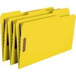 Smead 17940 Yellow Colored Fastener File Folders with Reinforced Tabs SMD17940