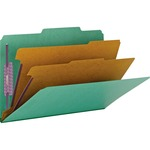 Smead 19033 Green Colored Pressboard Classification Folders with SafeSHIELD Fasteners SMD19033