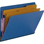 Smead 26784 Dark Blue End Tab Pressboard Classification Folders with SafeSHIELD Fasteners SMD26784