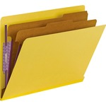 Smead 26789 Yellow End Tab Pressboard Classification Folders with SafeSHIELD Fasteners SMD26789