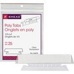 Smead 64615 Clear Poly Tabs SMD64615