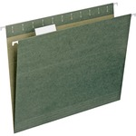 Smead Standard Green 100% Recycled Hanging File Folders with Tab SMD65001
