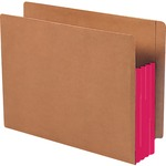 Smead 73686 Red Extra Wide End Tab File Pockets with Reinforced Tab and Colored Gusset SMD73686