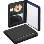 Smead 85840 Black Poly Nylon Covered Zippered Pad Folios SMD85840