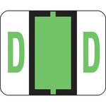 Smead 67074 Light Green BCCR Bar-Style Color-Coded Alphabetic Label - D SMD67074
