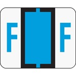 Smead 67076 Blue BCCR Bar-Style Color-Coded Alphabetic Label - F SMD67076