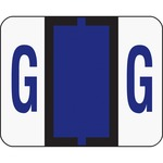 Smead 67077 Violet BCCR Bar-Style Color-Coded Alphabetic Label - G SMD67077