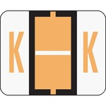 Smead 67081 Light Orange BCCR Bar-Style Color-Coded Alphabetic Label - K SMD67081