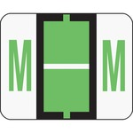 Smead 67083 Light Green BCCR Bar-Style Color-Coded Alphabetic Label - M SMD67083