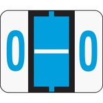 Smead 67085 Blue BCCR Bar-Style Color-Coded Alphabetic Label - O SMD67085