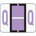 Smead 67087 Lavender BCCR Bar-Style Color-Coded Alphabetic Label - Q SMD67087