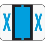 Smead 67094 Blue BCCR Bar-Style Color-Coded Alphabetic Label - X SMD67094
