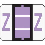 Smead 67096 Lavender BCCR Bar-Style Color-Coded Alphabetic Label - Z SMD67096