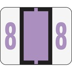 Smead 67378 Lavender BCCRN Bar-Style Color-Coded Numeric Label - 8 SMD67378