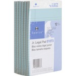 "Sparco Legal Ruled Pad - 50 Sheet(s) - 16lb - Legal/Narrow Ruled - Jr.Legal 5"" x 8"" - 12 / Pack - Blue SPR01073"