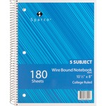 Sparco Quality Wirebound 5-Subject Notebook SPR83255