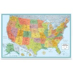 Rand McNally USA Wall Map RAN528961004