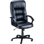 Lorell Tufted Leather Executive High-Back Chair LLR60116
