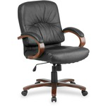 Lorell Woodbridge Managerial Mid-Back Chair LLR60336