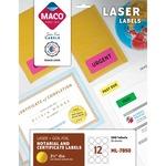 Maco Round Foil Laser Label MACML7850