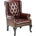 Lorell 777 QA Queen Anne Wing-Back Reception Chair LLR60605