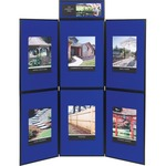 Quartet Show-It! 6-Panel Exhibition Display System QRTSB93516Q