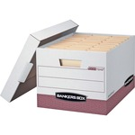 Bankers Box R-Kive - Letter/Legal, White/Red - TAA Compliant FEL07242