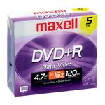 Maxell DVD Recordable Media - DVD+R - 16x - 4.70 GB - 5 Pack Jewel Case MAX639002