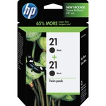 HP 21 Twinpack Black Ink Cartridge HEWC9508FN