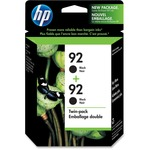 HP 92 Twinpack Black Ink Cartridge HEWC9512FN