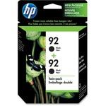 HP 92 Twinpack Black Ink Cartridge HEWC9512FN