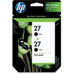 HP 27 Twinpack Black Ink Cartridge HEWC9322FN