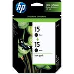 HP 15 Twinpack Black Ink Cartridge HEWC6653FN