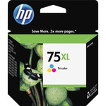 HP 75XL High Yield Tri-color Original Ink Cartridge HEWCB338WN