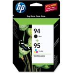 HP 94 Black/95 Tri-color 2-pack Original Ink Cartridges HEWC9354FN