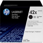 HP 42X 2-pack High Yield Black Original LaserJet Toner Cartridges HEWQ5942XD