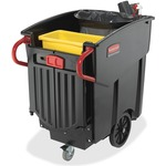 Rubbermaid Mega BRUTE Mobile Waste Collector RCP9W7300BK